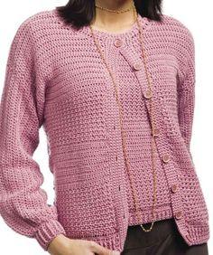 Crunch stitch twin set -- pdf link to crochet pattern: http://www.crochet-world.com/patterns/pdfs/CrunchSt.pdf