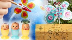 Painting a plant pot, cress egg heads, homemade treasure map, and butterfly garden decorations Easter Holidays, School Holidays, Book Activities, Outdoor Activities, Reading At Home, Cress, Treasure Maps, Garden Decorations, Outdoor Projects