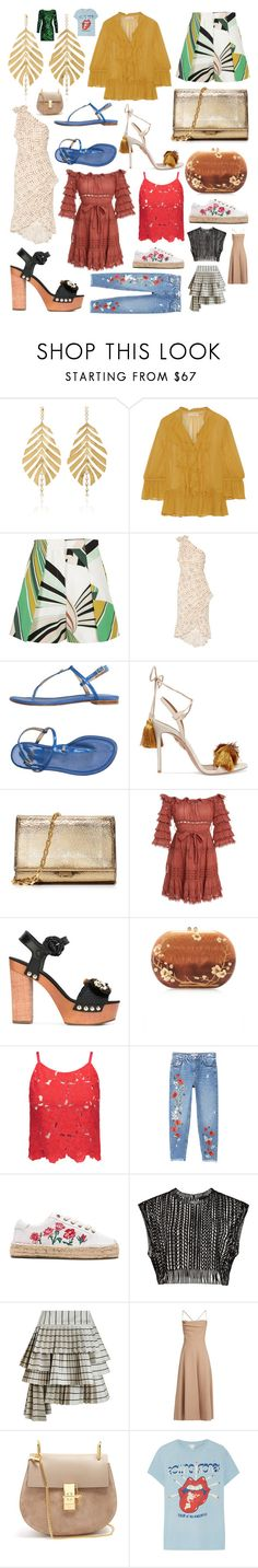 """""""Some of my favorite things #91 a.k.a. """"Fun in the Sun"""""""" by andyarana ❤ liked on Polyvore featuring Hueb, Ulla Johnson, Emilio Pucci, Stuart Weitzman, Aquazzura, Michael Kors, Zimmermann, Dolce&Gabbana, Silvia Furmanovich and Alice + Olivia"""