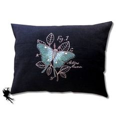 Miniature Menagerie Luna Moth Linen Cushion