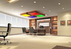 RGB Panel Light that suits your office reception area.