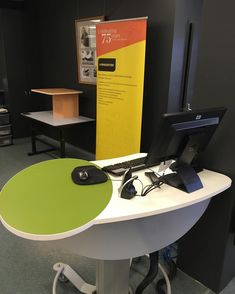 Adjustable service desk, Coffs Harbour Library, NSW