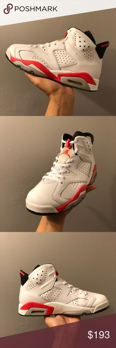 "4e5468654883 Air Jordan 6 ""infrared"" size 9 Sadly it doesn t come with box"