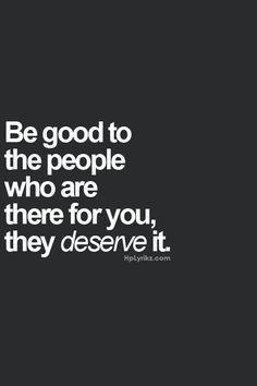 ...be good