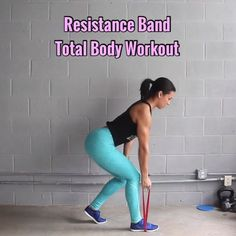 Resistance Band Total Body Workout - Equipment: I'm using a 30lb band from @thexbands They have a Starter Kit of 2 Booty Bands (including this one) for $12.99  - - 1. Single Arm Rows (bent over, core tight, band looped under foot) 8 Reps ea Side - - 2. Single Side Deadlifts (looped under foot, tuck & squeeze at top) 8 Reps ea Side - - 3. Reverse Lunge Kick Backs (hold wall, step back into lunge then up & lean forward slightly for kick) 8 Reps ea Side - - 4. Superman Spreads (band ar...