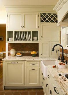 Sage Green Inset Door Kitchen - traditional - kitchen - seattle - by Kayron Brewer, CKD / Studio KB
