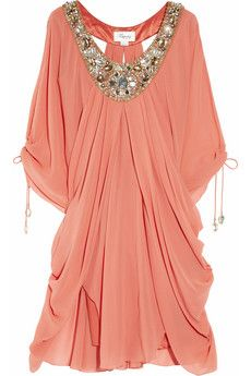 Beyond in love with this Temperley London Ellison embellished silk-crepe kaftan! All it needs is an Asscher cut diamond ring and it's off to Pink Elephant!