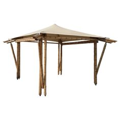 Bamboo Gazebo Kit with Outdoor Fabric