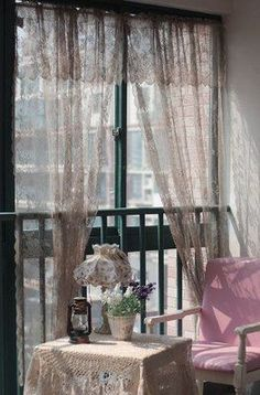 Shabby Chic Bedroom - gypsy lace