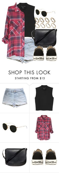"""Style #11238"" by vany-alvarado ❤ liked on Polyvore featuring Monki, Ray-Ban, Mansur Gavriel, Converse and ALDO"
