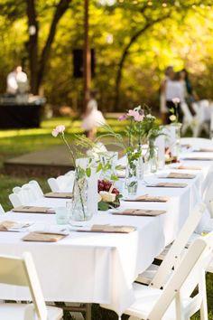 Elegant Vintage Backyard Wedding