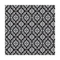 Wallstickery damask wallpaper prepasted black contact paper for wall... ($130) ❤ liked on Polyvore featuring home, home decor, wallpaper, self adhesive wallpaper, black damask wallpaper, damask wallpaper, black wallpaper and damask home decor
