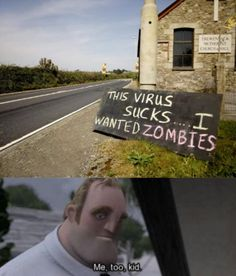 I support zombies too. can you pin it duudes ? Crazy Funny Memes, Really Funny Memes, Stupid Funny Memes, Funny Relatable Memes, Haha Funny, Hilarious, Funny Stuff, Funny Images, Funny Photos
