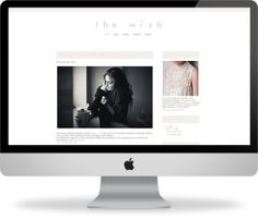 I'm such a huge fan of minimal design!Check out The Wish - Blogger Template by Pink+Lola on Creative Market