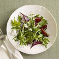 Roasted beet and mizuna salad - Country Living