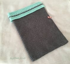 """Hülle Tasche Tablet """"rosa Schmetterling"""" von LanaDiBastone auf DaWanda.com"""