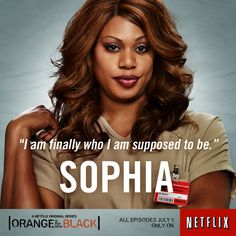 To be true to herself,  Sophia lost her freedom.  But she'll never give up her lipgloss.  #OITNB #Netflix