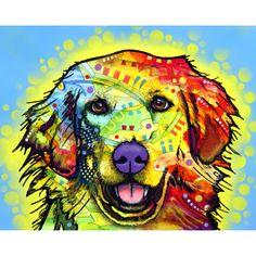 Dean Russo Art Dogs Golden | Golden Retriever pets, multi, pet accessories