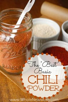 """The """"Best"""" Chili Powder Recipe--made with 6 ingredients you likely have in your pantry Easy Homemade Chili, Homemade Chili Seasoning, Homemade Dry Mixes, Homemade Spice Blends, Homemade Spices, Homemade Seasonings, Seasoning Mixes, Seasoning Recipe, Homemade Recipe"""