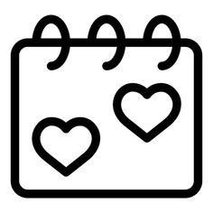 Calendar - Free icon from IconBros Easy Disney Drawings, Easy Doodles Drawings, Bff Drawings, Doodle Art Drawing, Cute Easy Drawings, Cute Little Drawings, Cute Calendar, Calendar Stickers, Fox Coloring Page