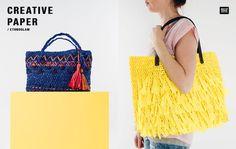 Coole Sommertaschen und mehr: jetzt ganz einfach aus dem Papiergarn Creative Paper häkeln! #Rico Design #häkeln #Tasche häkeln #DIY