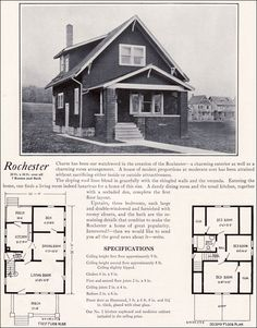 Bennett Homes   Ontario   VinTagE HOUSE PlanS s    Modern Vernacular Bungalow   Rochester by Bennett Homes   Kit Houses   just about identical to the one I grew up in