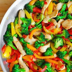 Stir Fry Dishes, Stir Fry Recipes, Food Dishes, Cooking Recipes, Easy Vegetable Stir Fry, Vegetable Recipes, Chicken Recipes, Chinese Vegetables, Chicken And Vegetables