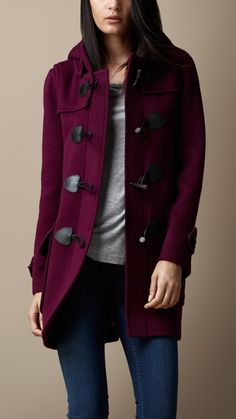 Wool Fitted Duffle Coat | Burberry