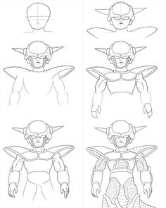 How to draw goku step by step drawing tutorial with pictures how to draw frieza form 1 from dragonball manga learn basic drawing technique for manga and anime from step by step basic drawing lesson publicscrutiny Gallery
