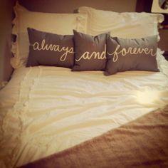 Decorative Pillows For Bed   bed #love #pillows #decor. Really #cute #pillows #pillowsforhome #beautifulpillows