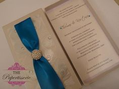 Peacock themed wedding invitation!