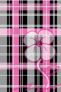 PINK AND BLACK PLAID, IPHONE WALLPAPER BACKGROUND