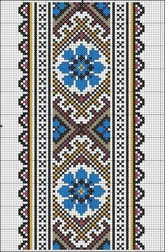 This Pin was discovered by Оля Cross Stitch Borders, Cross Stitch Flowers, Cross Stitch Charts, Cross Stitch Designs, Cross Stitching, Cross Stitch Embroidery, Embroidery Patterns, Cross Stitch Patterns, Bead Loom Patterns