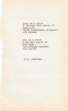 Beautiful, hopeful poem I am glad to have re-discovered this evening...  e.e. cummings