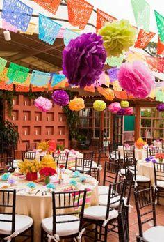 Decoraciones fiesta mexicana.