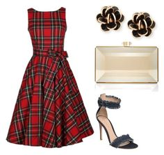 """""""Outfit #6"""" by sammiloves on Polyvore featuring Gianvito Rossi, Judith Leiber and Chantecler"""