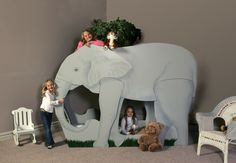 Do you have a young elephant lover in your life? Inspire their appreciation with their very own Elephant Bunk Bed. Designed by Tanglewood
