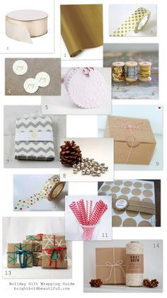 Holiday Gift Wrapping Ideas brightboldbeautiful.com