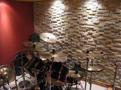 Music Room Man Cave contemporary basement