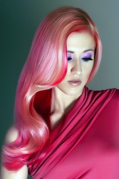 4.Glamorous Fuscia Hue  I really love this color idea and I'm sure many of girls would like to grab it as well. You don't have to spread it everywhere, leave some strands with your natural colors as well. You can see how beautifully blonde make a lovely combination with fuscia.Once you have this hue in your hair, the next important thing to try charming hairstyles like formal waves and sleek braids.
