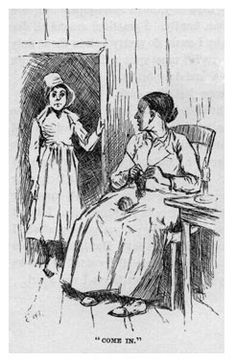 Huck dressed as girl with Woman