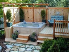 spa pool area ideas - Google Search