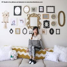 love this wall of frames