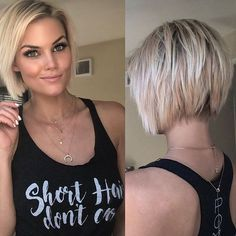 - Krissa Fowles 💕 - ✨Current photo of the back of my hair ✨ wearing a Hair Styles 2016, Medium Hair Styles, Short Hair Styles, Medium Curly, Short Bob Hairstyles, Pretty Hairstyles, Choppy Bob Haircuts, Hairstyles Men, Hair Dos