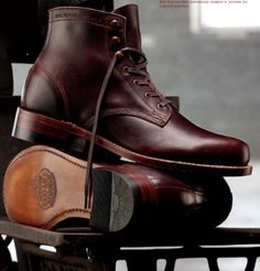 The Wolverine 1,000 mile boot. Made in the USA in a 300 step process.