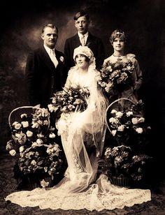 Vintage Wedding Photo  circa 1920s                                                                                                                                                                                 More