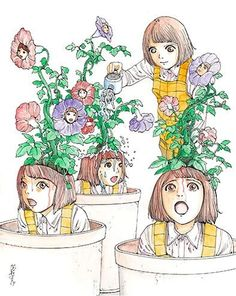 Shintaro Kago Creepy Art, Creepy Dolls, Arte Horror, Horror Art, Art Sinistre, Dibujos Dark, Candy Gore, Horror Themes, Vash