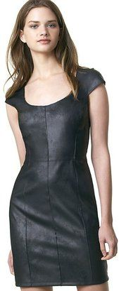 Velvet by Grahm Spencer & Spencer - Faux Leather Sheath Dress - $196.00 - Click on the image to shop now