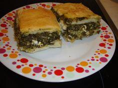 Placinta cu spanac si feta (spanakotyropita) - Bucataria cu noroc Spanakopita, Noroc, Feta, Ethnic Recipes