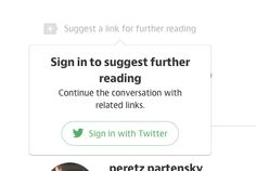 instead of hide link for guest user, shows a popover to suggest login, with clear message